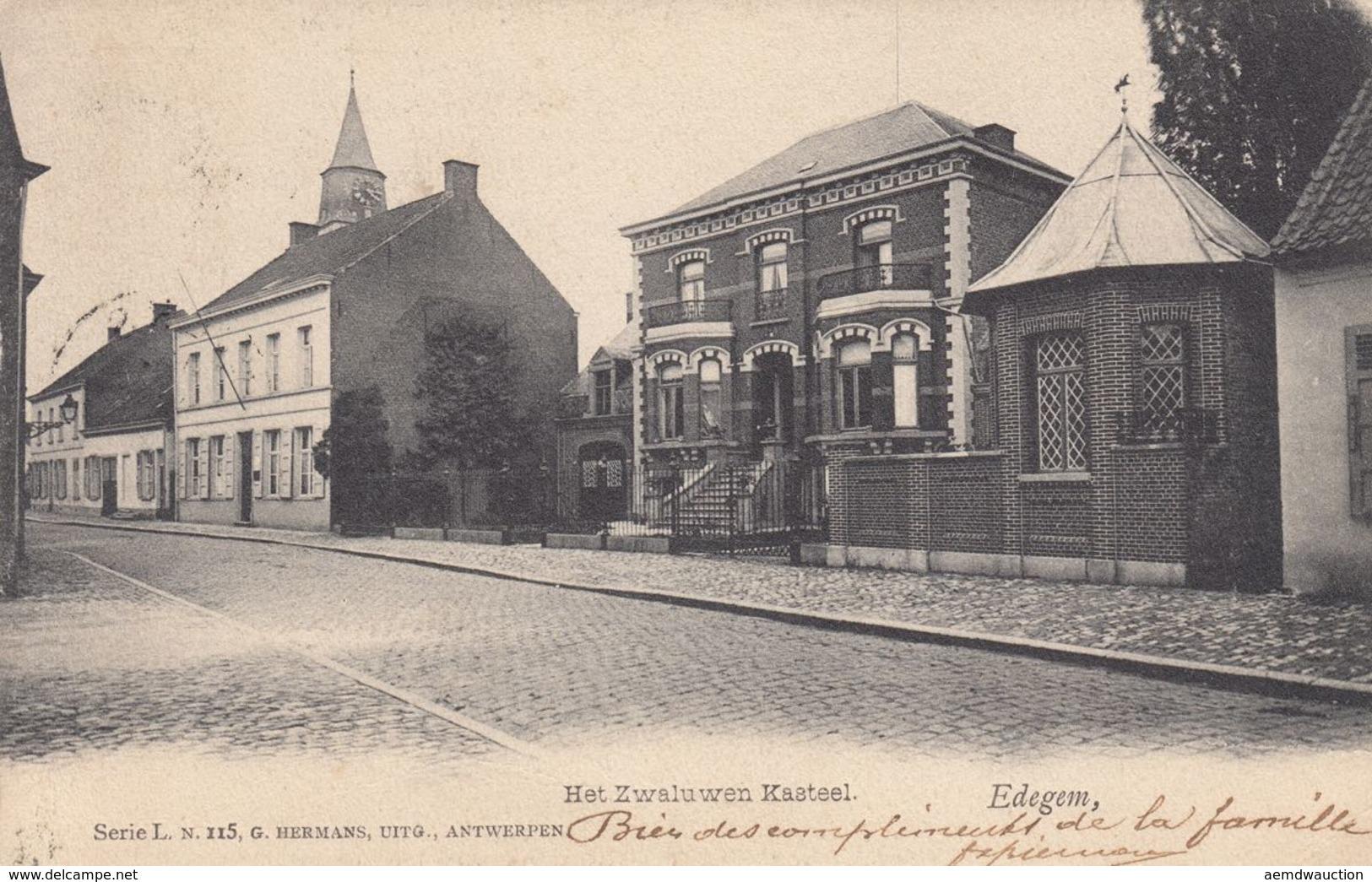 EDEGHEM (27), Anvers (7), Contich (1). Ensemble 35 Cart - Non Classificati
