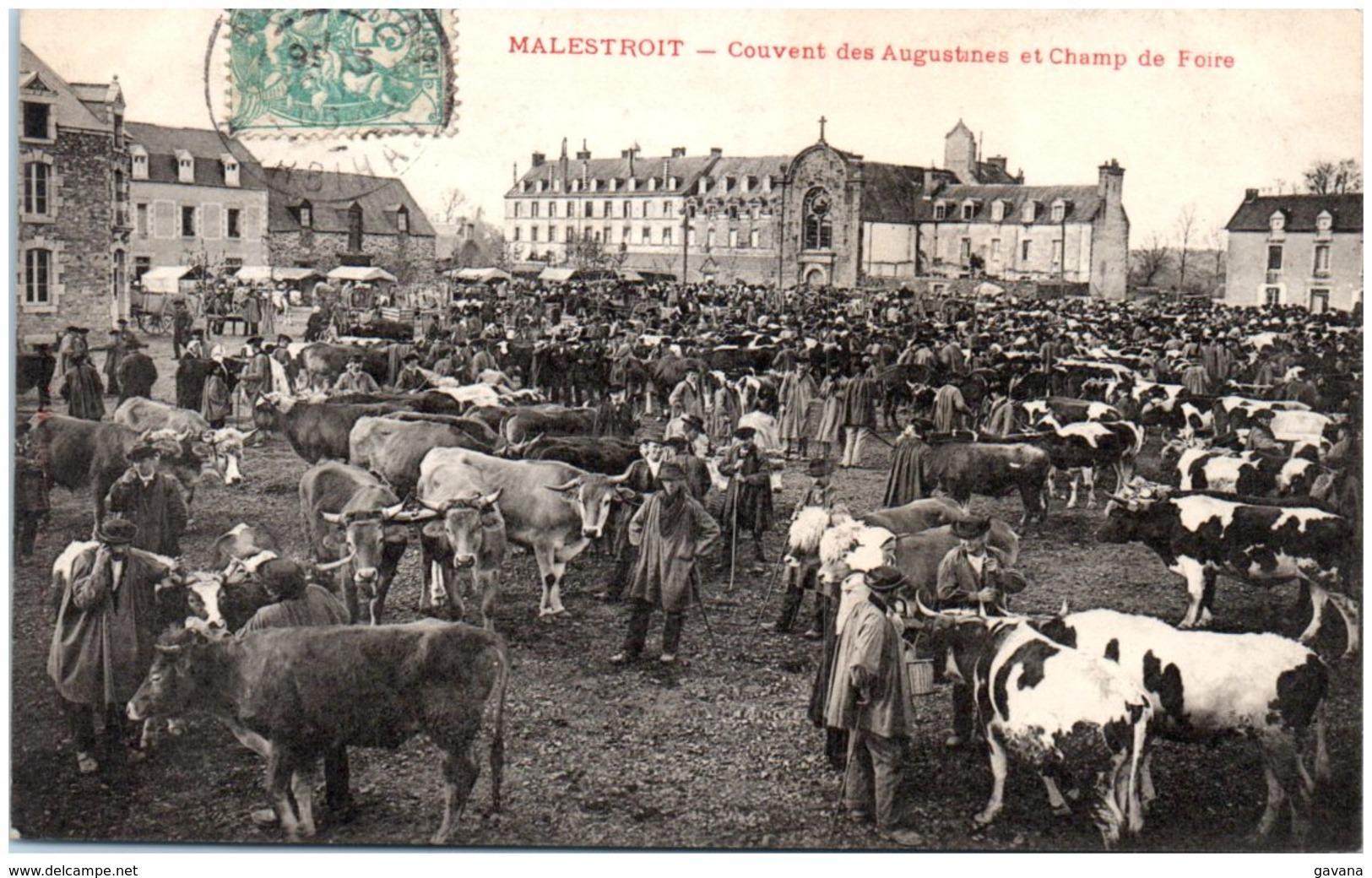 56 MLESTROIT - Couvent Des Augustines Et Champ De Foire - Malestroit