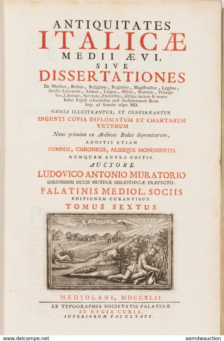 Lodovico Antonio MURATORI - Antiquitates Italicæ Medii - Books, Magazines, Comics