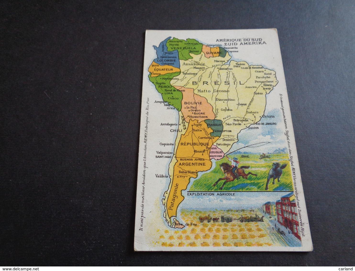 Carte ( 1 )  Géographique  Landkaart -  Amérique Du Sud  Zuid - Amerika  - Brésil  Brazilië - Cartes Géographiques