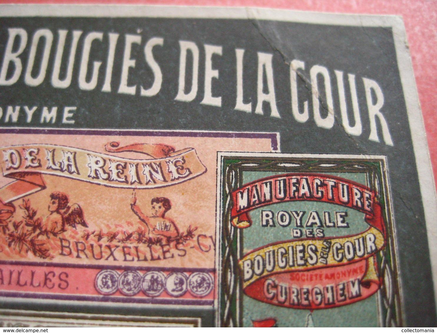 Manifacture Bougies De La Cour - Spinael CUREGHEM Stéarine, Parafine, Oléine, Glycérine - Litho MASURE Prachtig Superb - 1800 – 1899