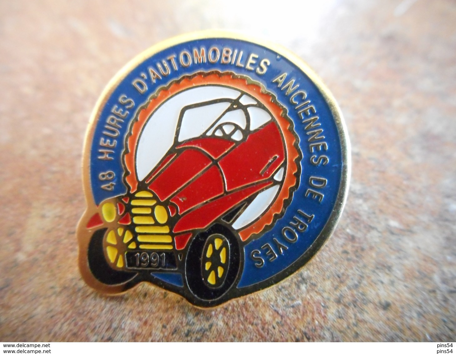 A012 -- Pin's 48 Heures D'Automobile Anciennes De Troyes - Rally