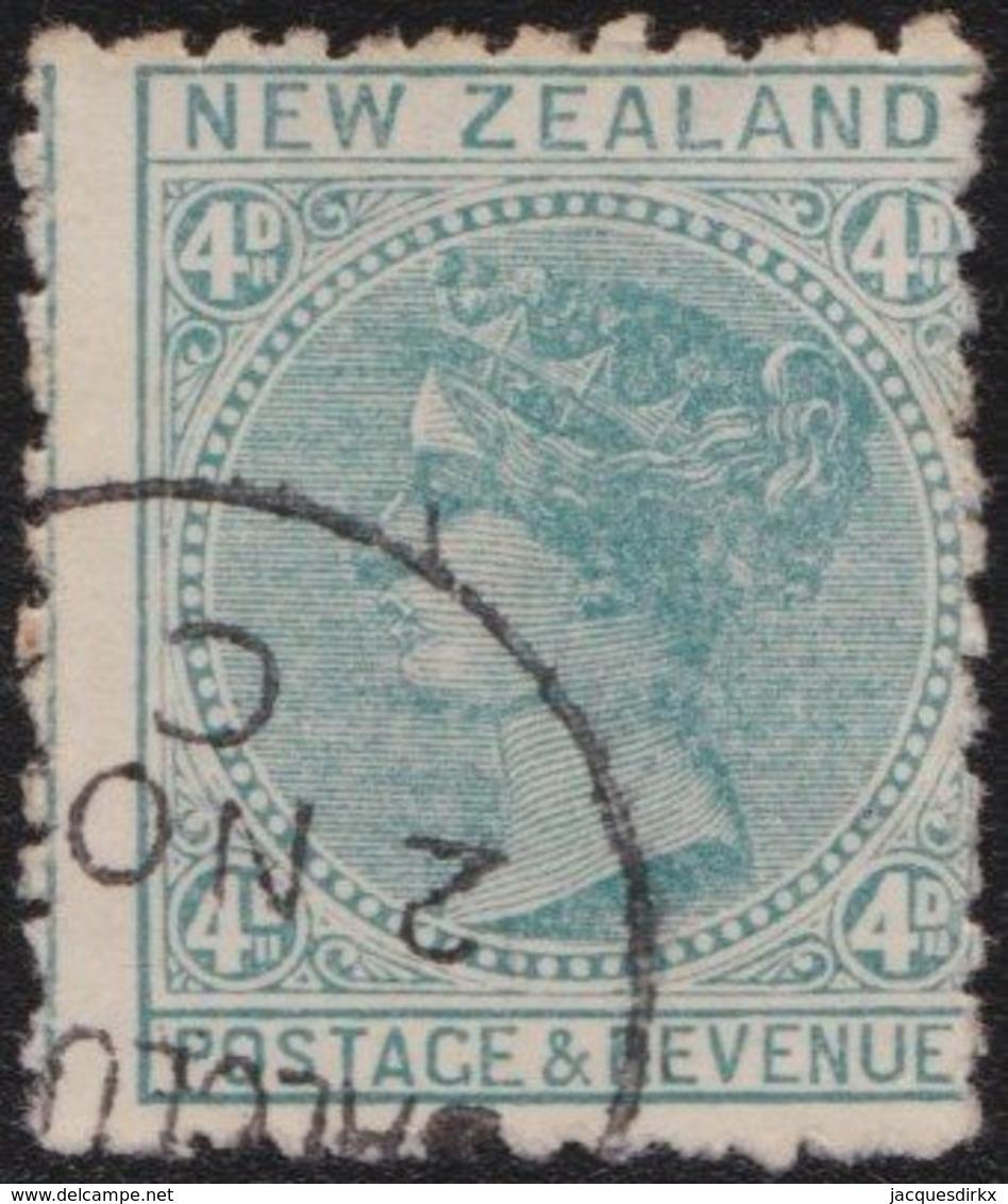 NZ    .     SG   .    182     .    Watermark  NZ And Small Star  Wide Apart      .    O   .    Cancelled - 1855-1907 Kronenkolonie