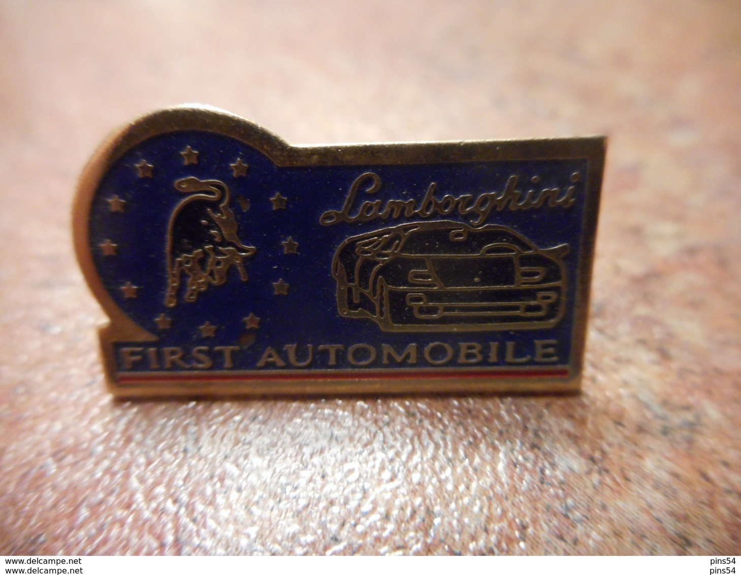 A029 -- Pin's First Automobile Lamborghini - Pin's & Anstecknadeln
