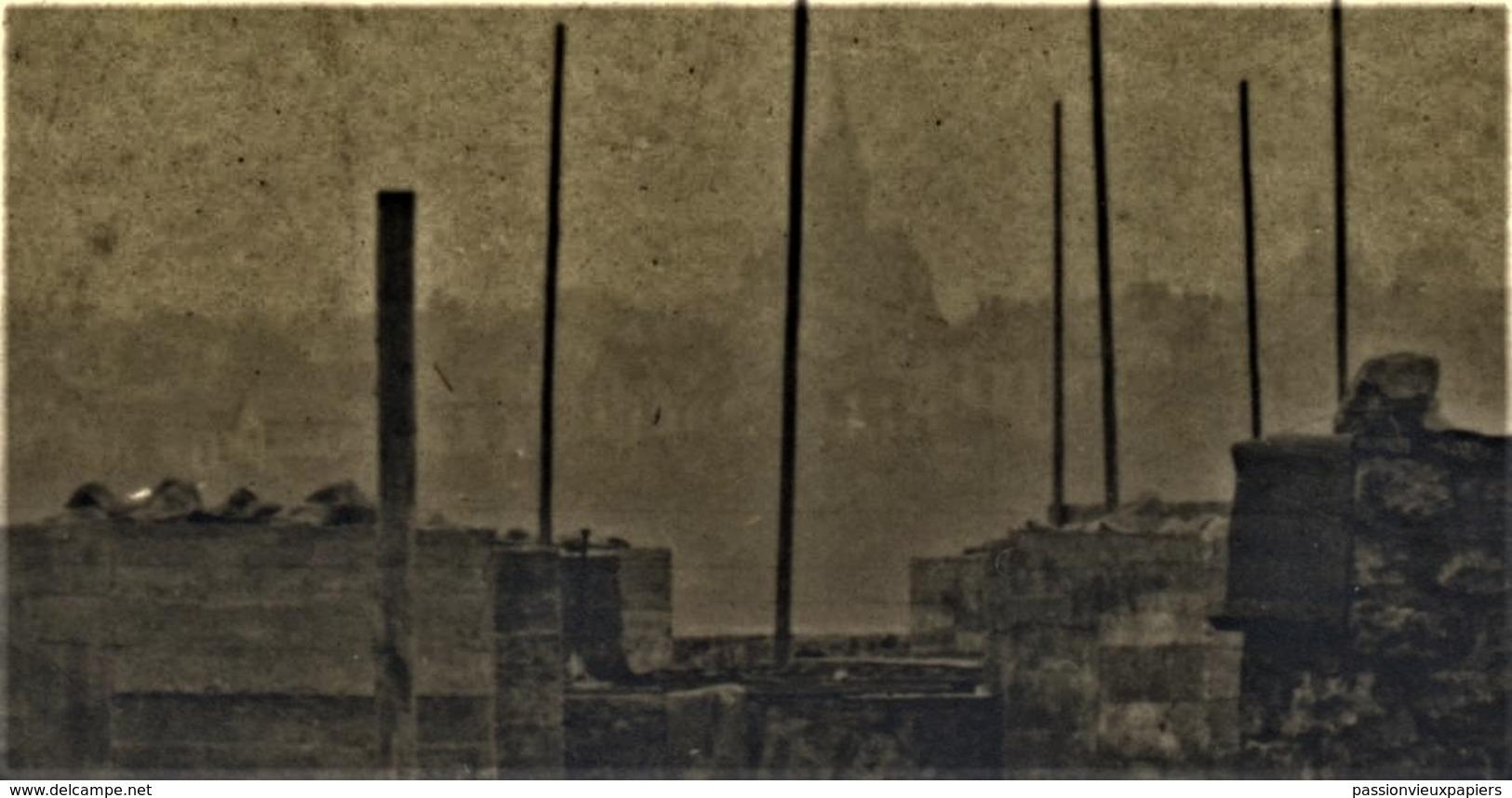 CARTE PHOTO  METZ   1906  CONSTRUCTION GARE DE MARCHANDISES  ?? - Metz