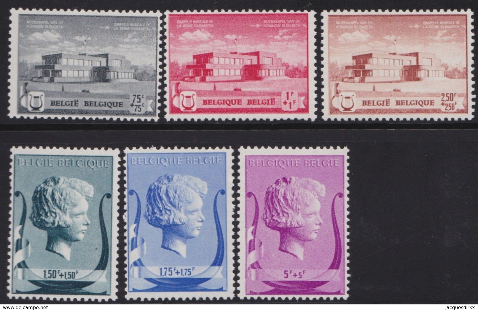 Belgie    .    OBP   .     532/537       .   **     .    Postfris ZONDER  Charnier    .  / .  Neuf SANS  Charniere - Belgium