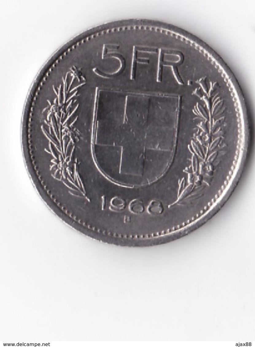 MONNAIE : De 5 FRANCS Suisse De 1968 -- B -- Voir Photos. - Suisse