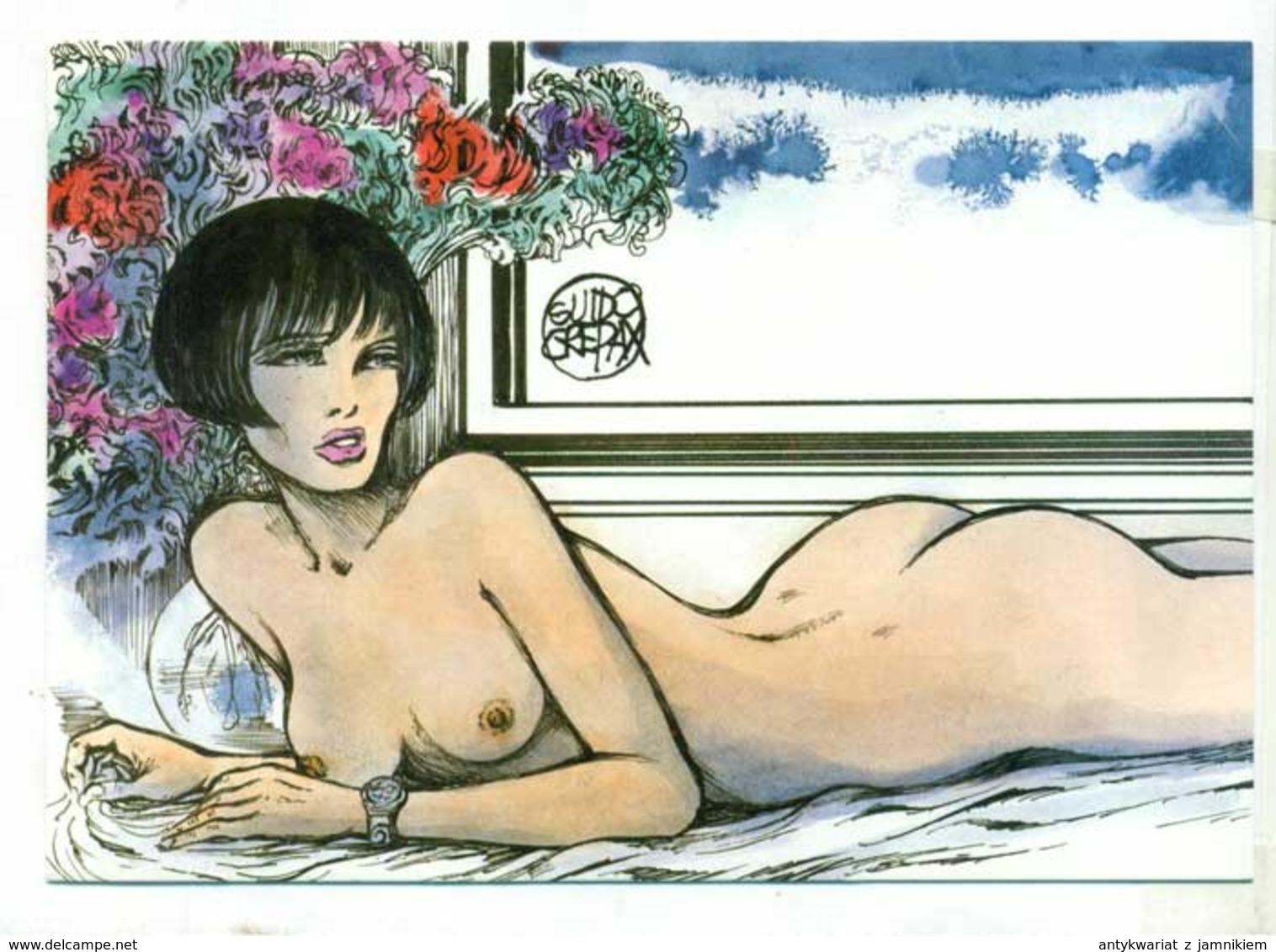 Guido Crepax Pin Up  -  Akt Nude Erotik Nus - Nudi Adulti (< 1960)