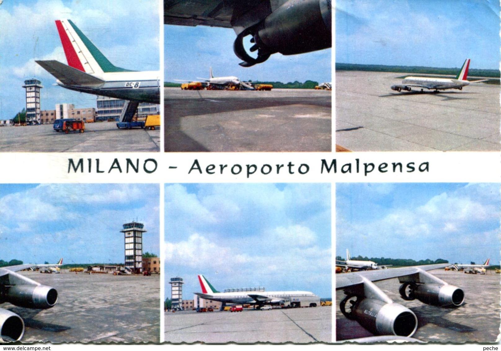 N°65549 -cpsm Aéroport De Milan Malpensa- - Aerodromes