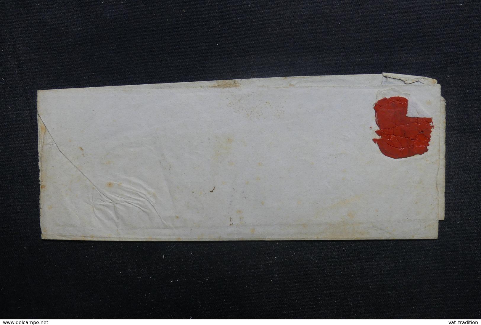 """FRANCE / ITALIE - Cachet D'entrée """" Sard. Pont-De-B. 3 """" Sur Lettre De Genova Pour Paris En 1839 - L 41912 - Postmark Collection (Covers)"""