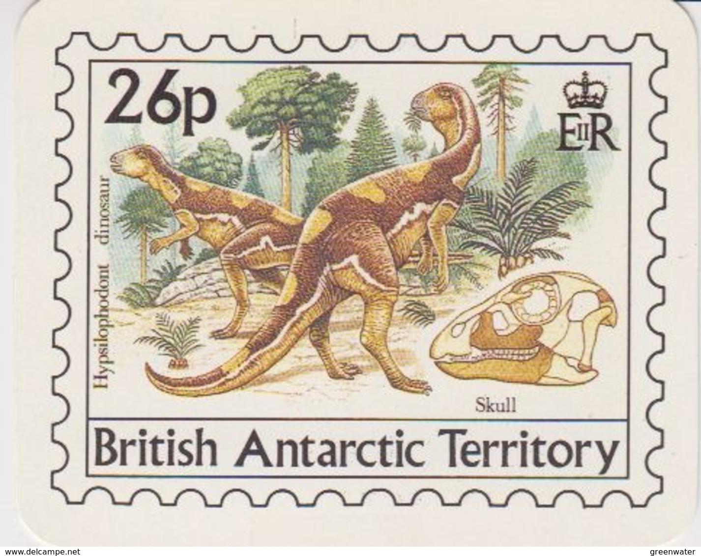British Antarctic Territory 1991 Calender Card / Dinosaur (44471A) - Brits Antarctisch Territorium  (BAT)