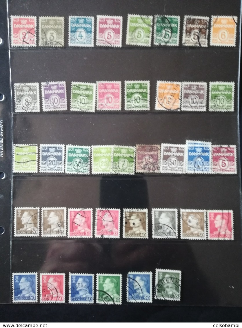 DANMARK: C0LLECTION OF 177 STAMPS - Lotes & Colecciones