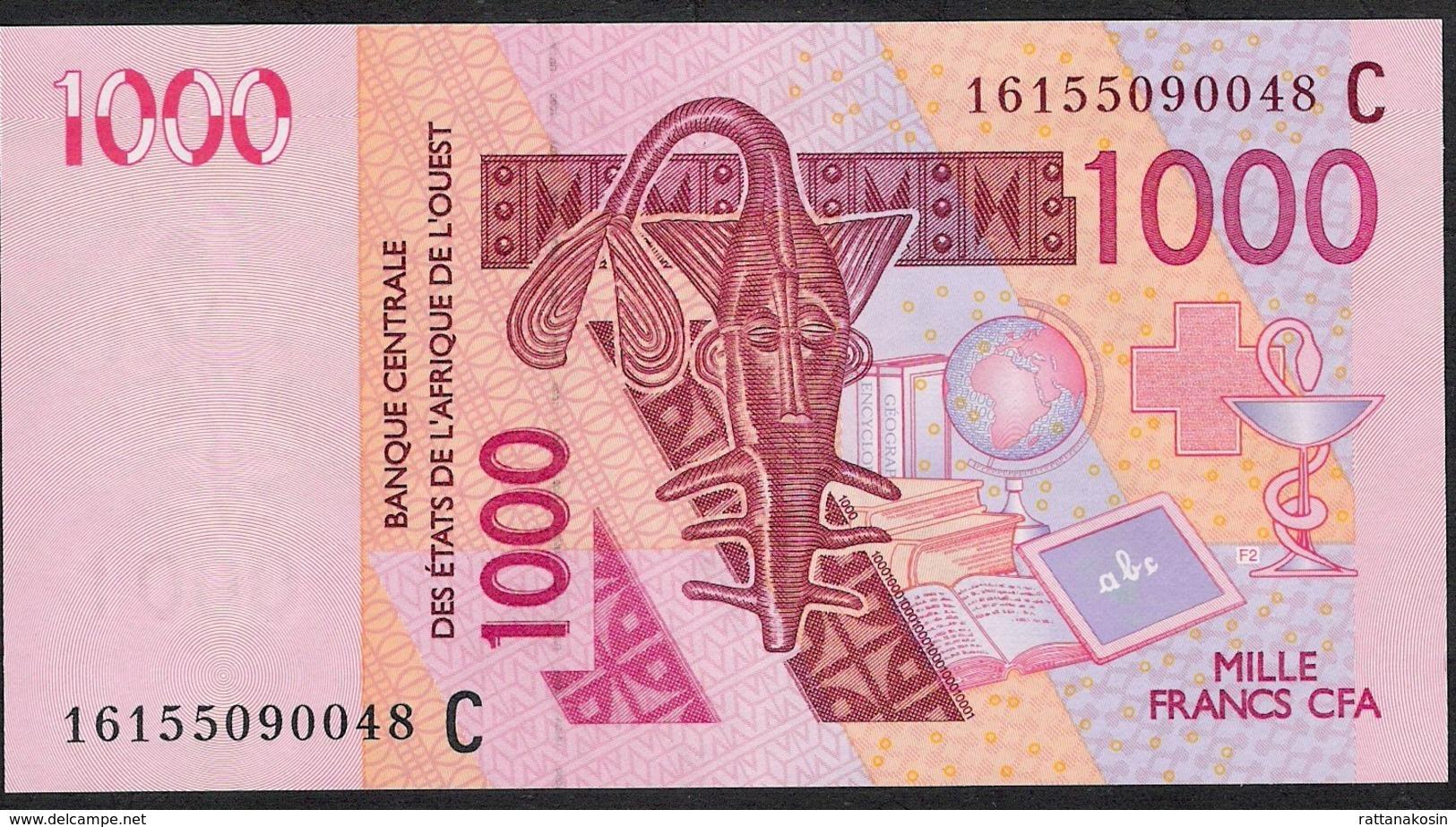 WA.S. Letter C = Burkina Faso P315C 1000 Francs (20)16 2016    UNC. - Burkina Faso
