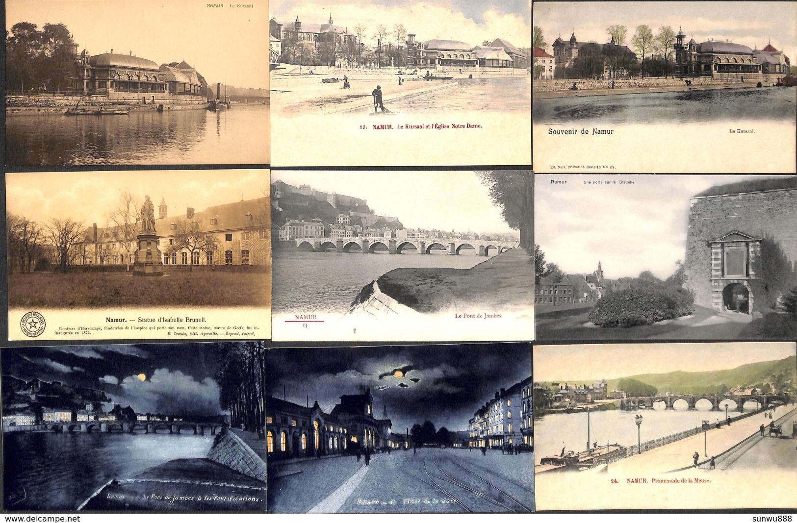 Namur - Superbe Lot 100 Cartes (colorisée Animée SBP Précurseur Top Qualité... Voir Tout Est Scanné... Petit Prix) (1) - Namur