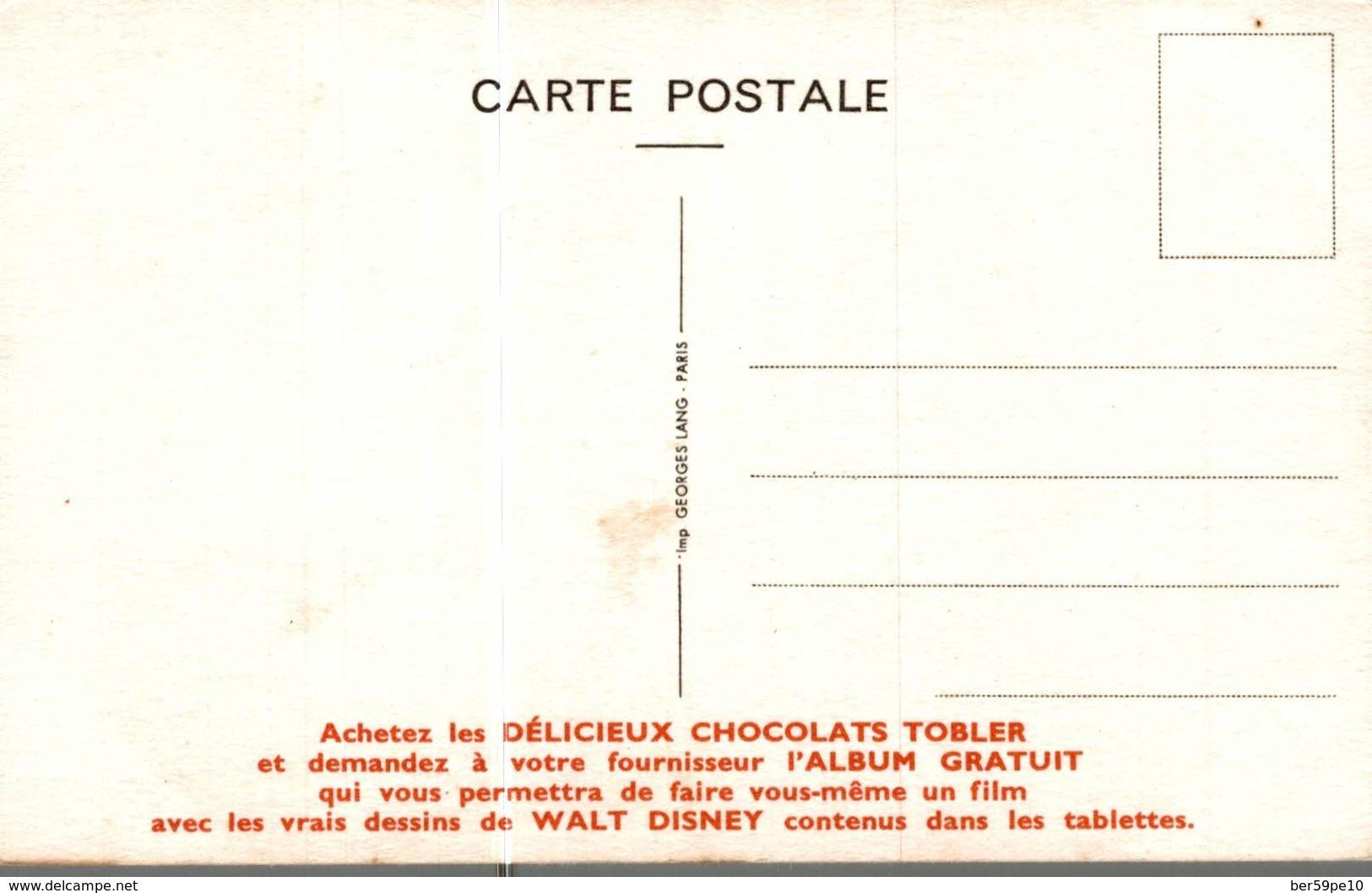 CARTE POSTALE PUBLICITAIRE CHOCOLATS TOBLER WALT-DISNEY  DAISY - Autres