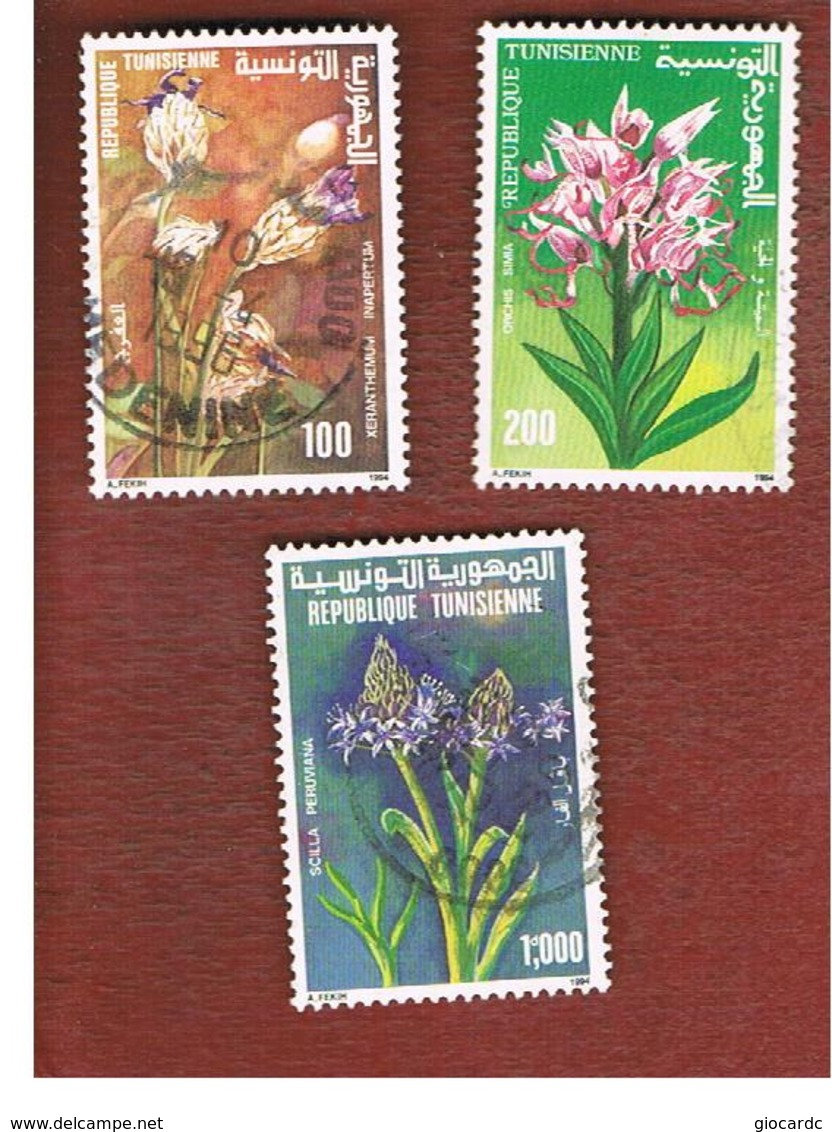 TUNISIA - SG 1271.1277  -    1994 PLANTS   - USED ° - Tunisia (1956-...)
