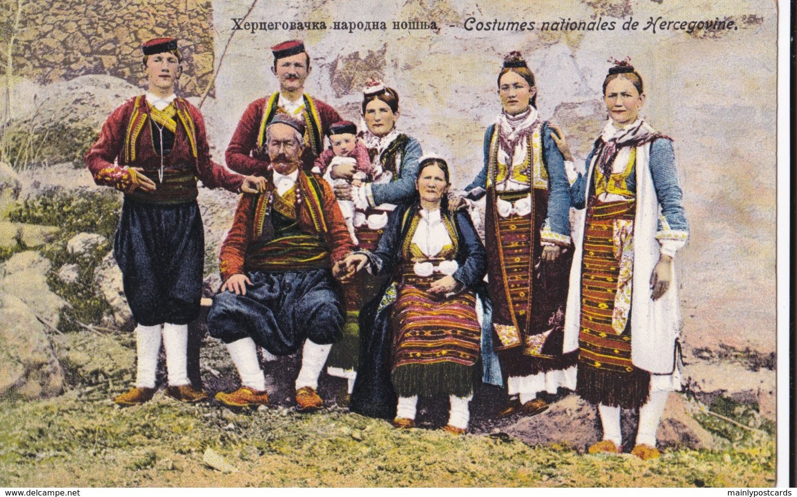 AO17 Social History Postcard - Costumes Nationales De Hercegovine - Costumes