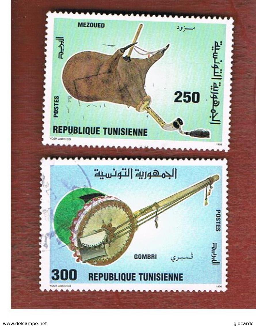TUNISIA - SG 1337.1338  -    1996  MUSICAL INSTRUMENTS    - USED ° - Tunisia (1956-...)