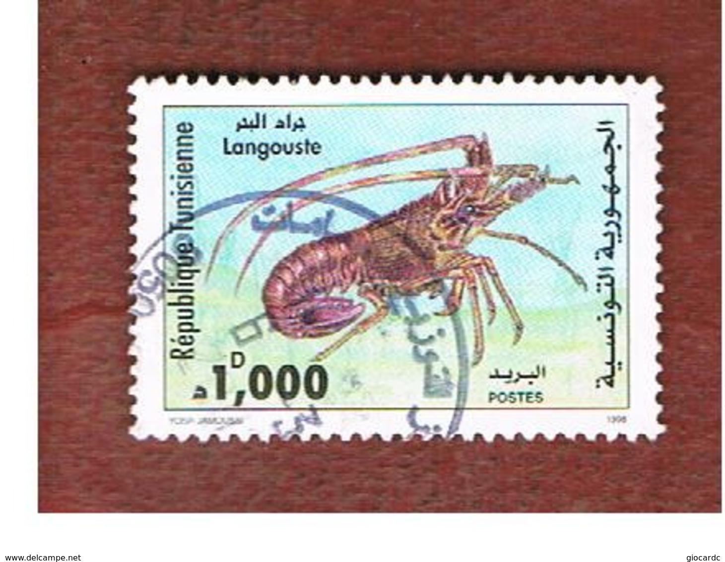 TUNISIA - SG 1385  -    1998   MARINE LIFE: PALINURUS ELEPHAS    - USED ° - Tunisia (1956-...)