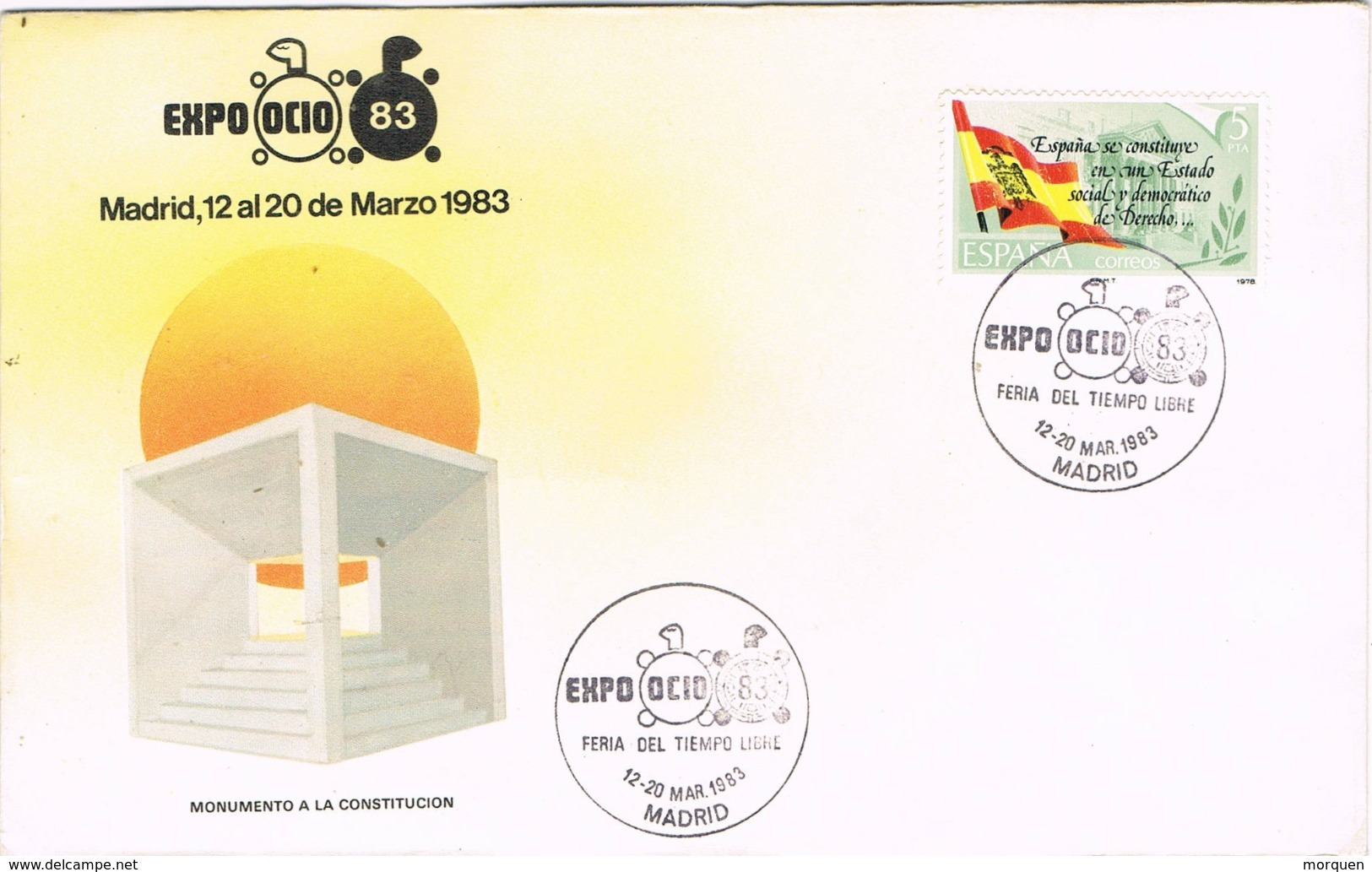 33762. Carta MADRID 1983. Feria EXPO OCIO 83, Tiempo Libre - 1931-Hoy: 2ª República - ... Juan Carlos I