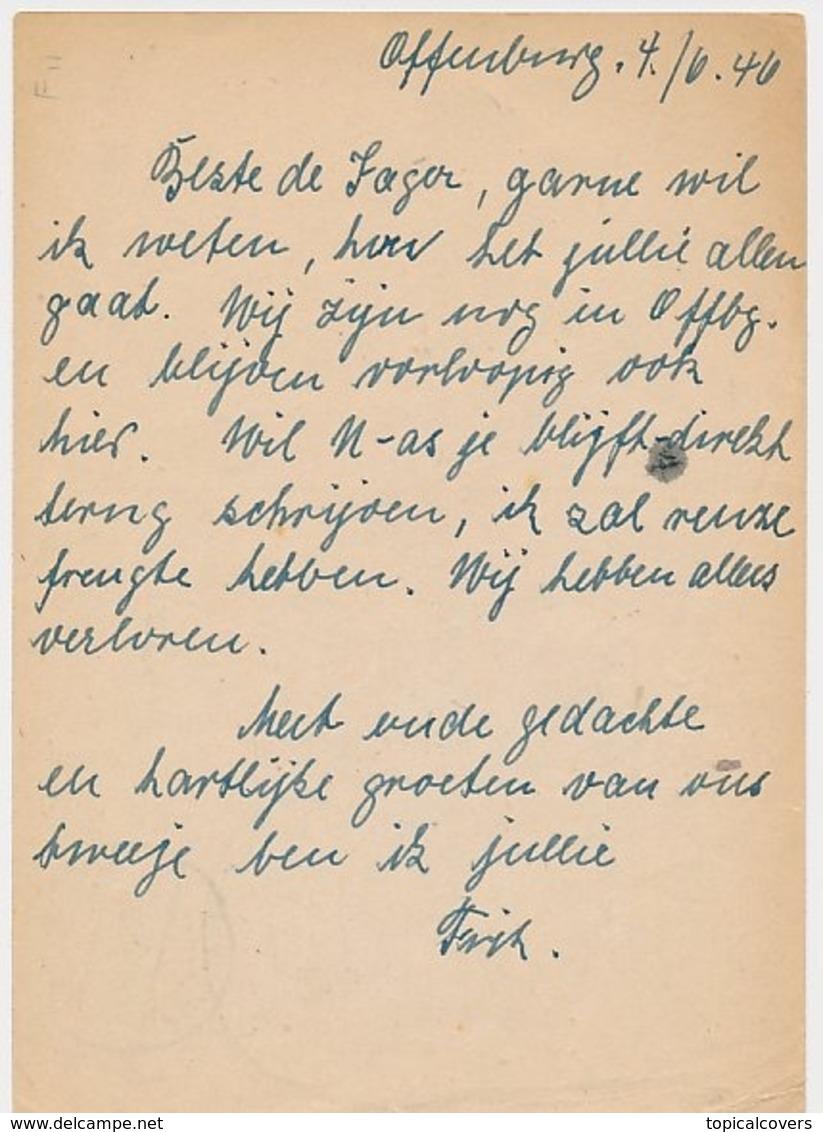 Censored Card Germany French Zone - Netherlands 1946 - Gebuhr Bezahlt / Taxe Percue - Zona Francese