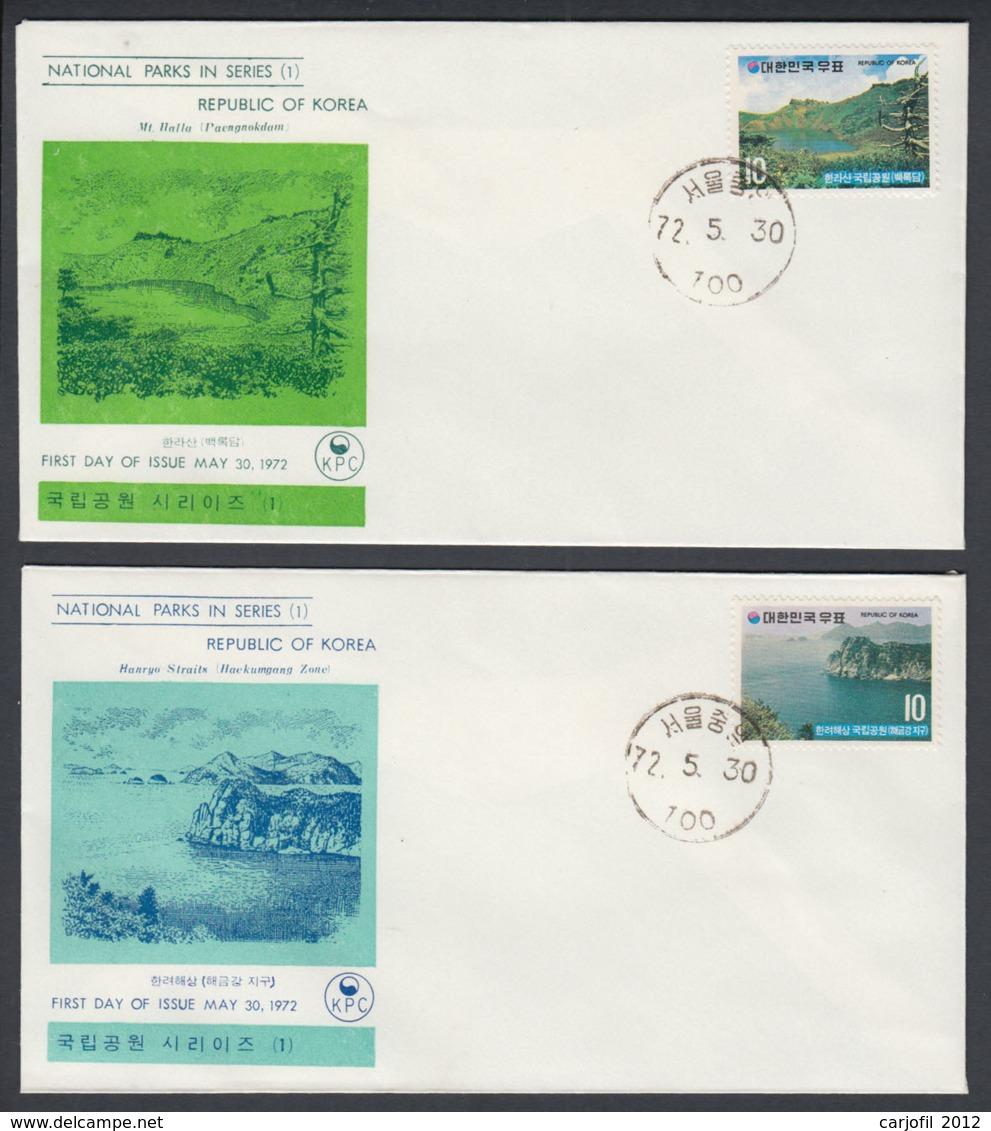 First Day Cover Spd South Corea - Corea Del Sur - Yvert 710/711 Year 1972 - Postmark - Korea (Zuid)