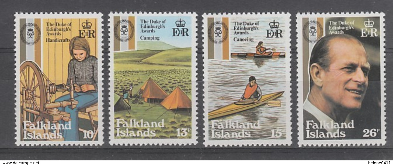 SERIE NEUVE DES ILES FALKLAND - 25E ANNIVERSAIRE DU PRIX DU DUC D'EDIMBURG N° Y&T 327 A 330 - Falkland