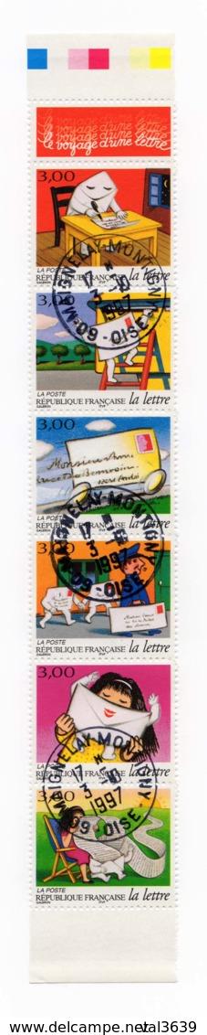 Bande Entière Carnet YT BC3065A Le Voyage D'une Lettre 1997 Oblitérations 03/10/1997 Maignelay Montigny (60) - Carnets