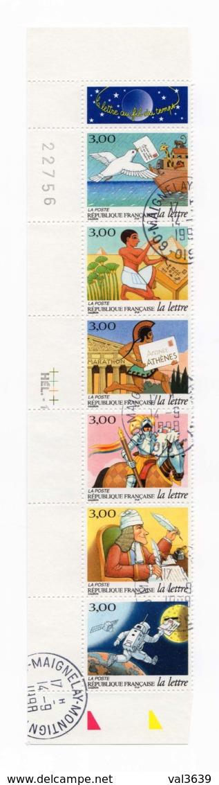 Bande Entière Carnet YT BC3155A La Lettre Au Fil Du Temps 1998 Oblitérations 14/09/1998 Maignelay Montigny (60) - Autres