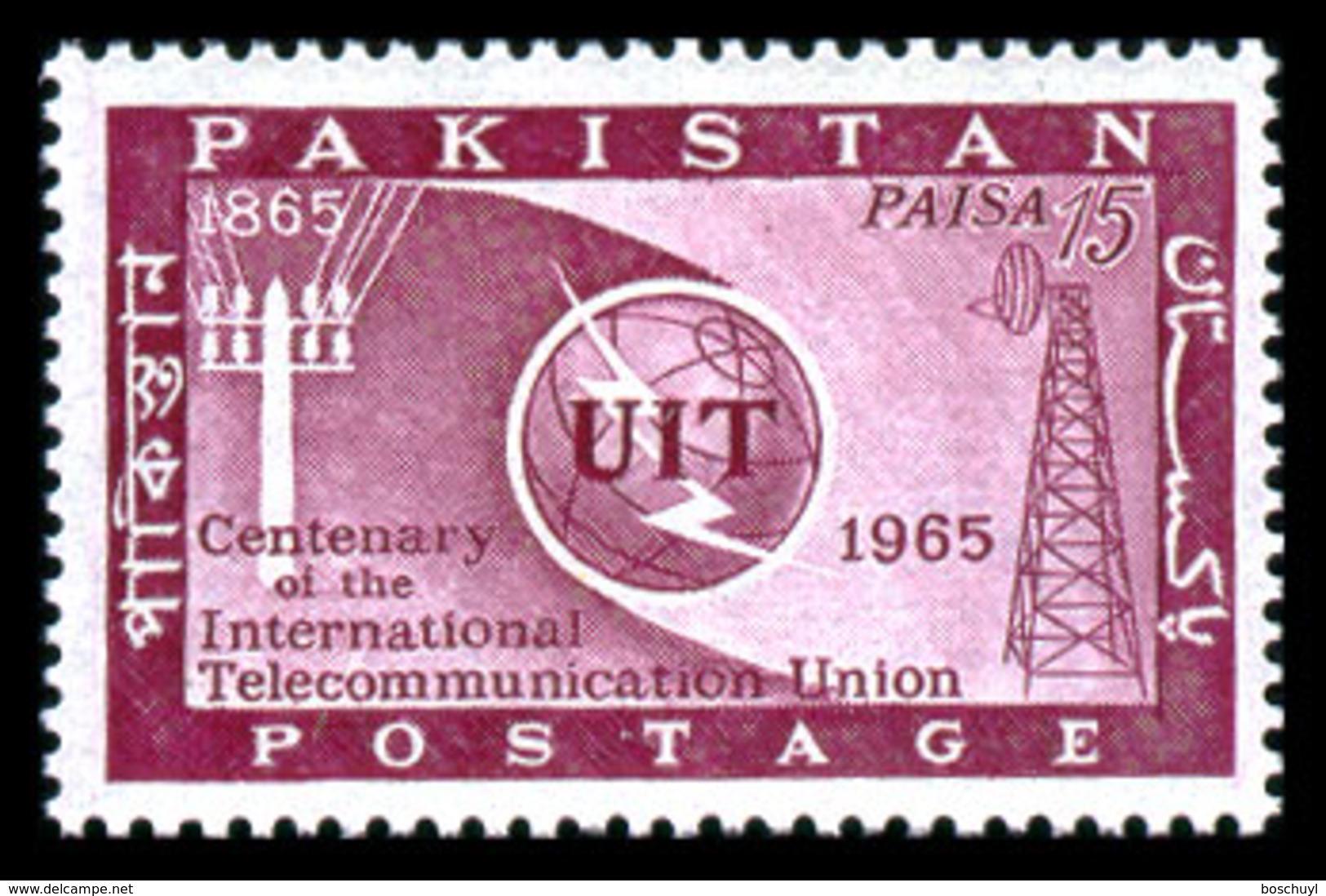 Pakistan, 1965, ITU Centenary, International Telecommunication Union, United Nations, MNH, Michel 216 - Pakistan