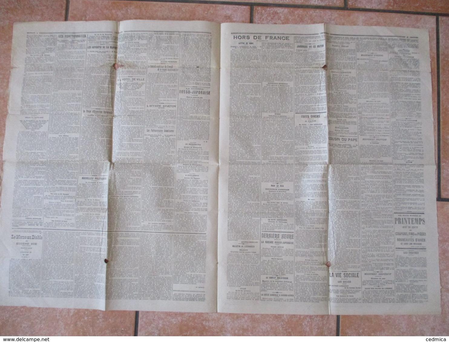 L'HUMANITE DU SAMEDI 26 NOVEMBRE 1904 DIRECTEUR POLITIQUE JEAN JAURES - Informations Générales
