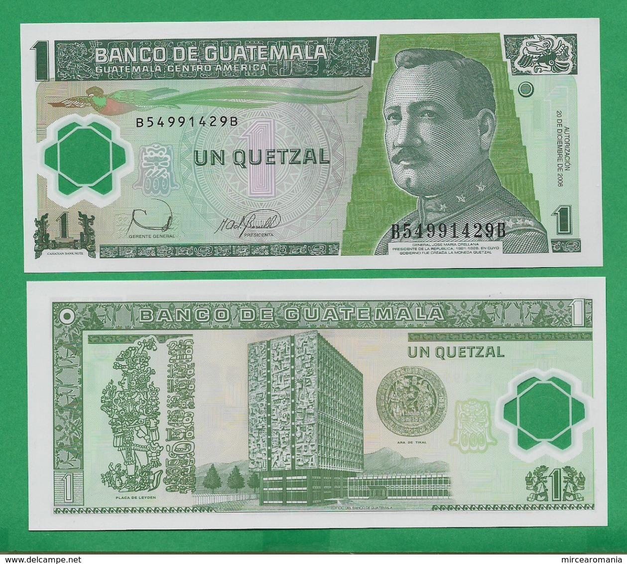 GUATEMALA - 1 QUETZAL - 2006 - POLYMER - UNC - Guatemala