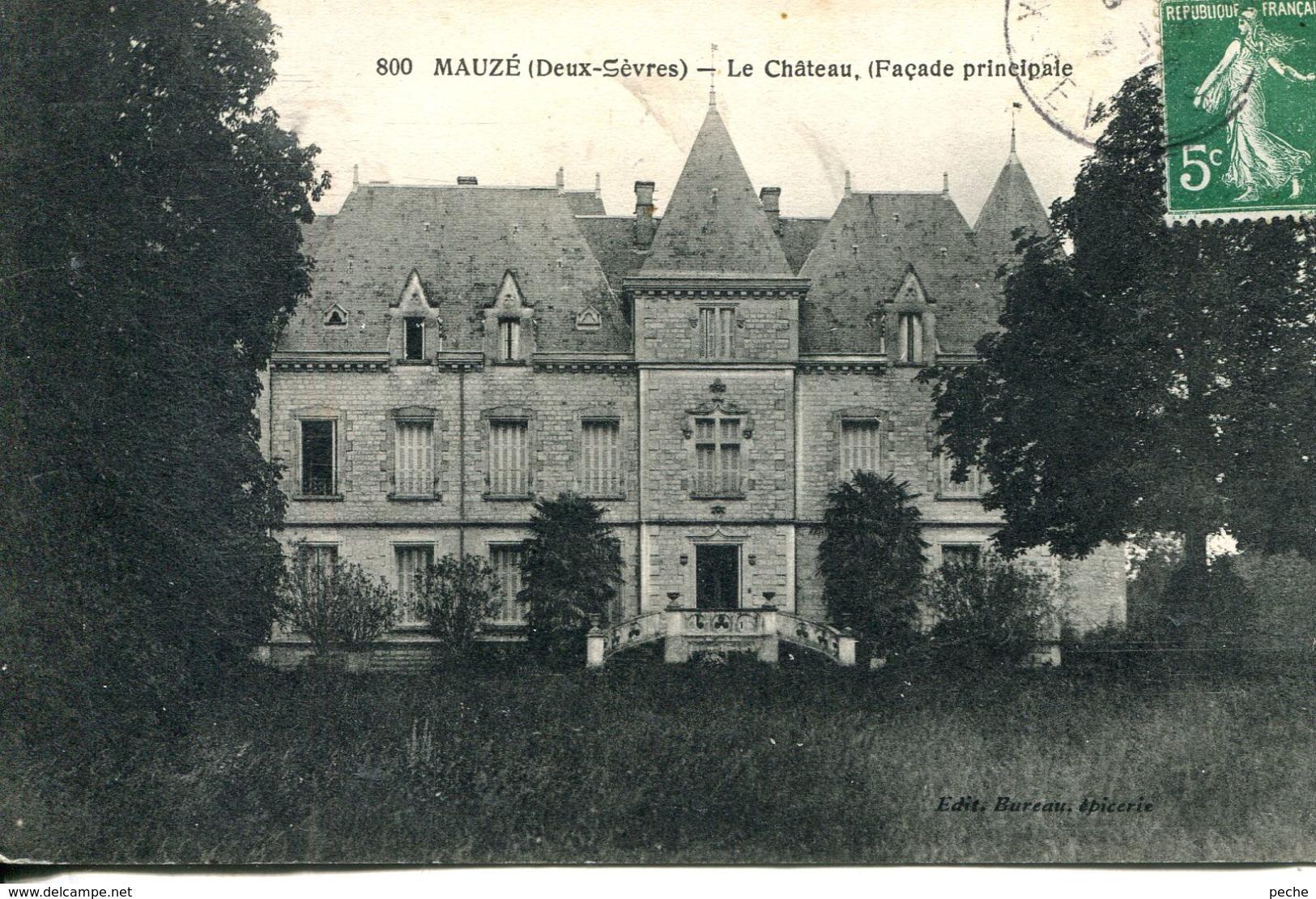 N°75385 -cpa Château De Mauzé - Mauze Sur Le Mignon