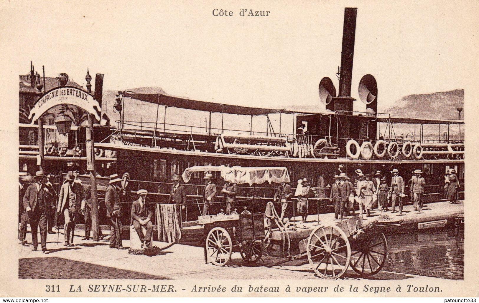 83 LA SEYNE SUR MER ARRIVEE DU BATEAU A VAPEUR DE TOULON A LA SEYNE BELLE ANIMATION - La Seyne-sur-Mer