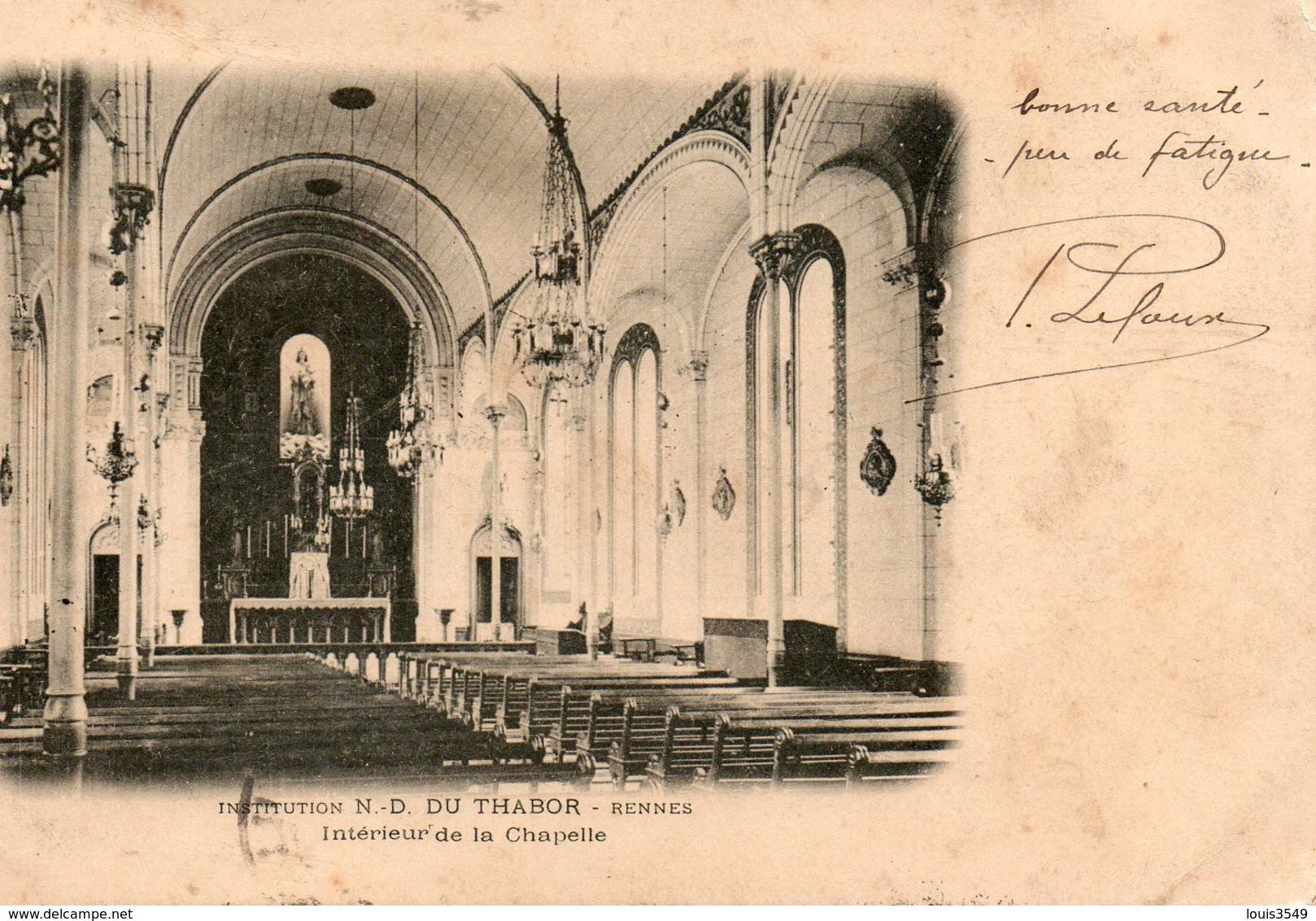 Institution  N.- D. Du  Thabor  Rennes  Intérieur  De  La  Chapelle. - Rennes