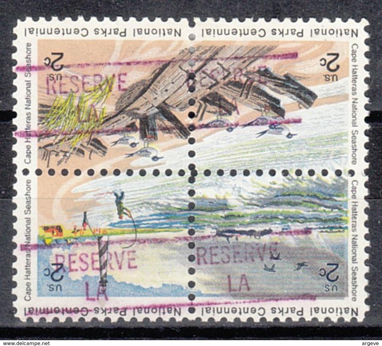 USA Precancel Vorausentwertung Preo, Locals Louisiana, Reserve 841, Hatteras Block - Vereinigte Staaten