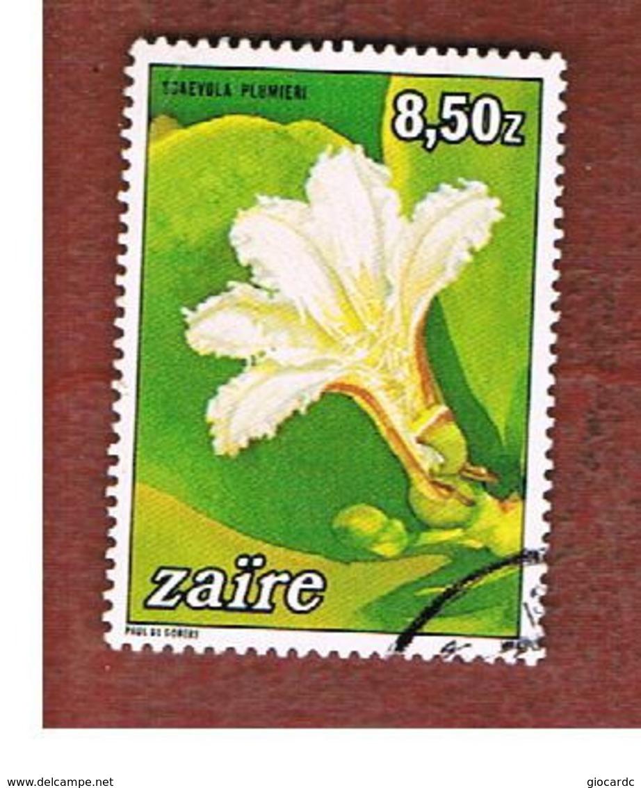 ZAIRE  -  SG 1190 -  1984   : FLOWERS: SCAEVOLA PLUMIERI    - USED ° - Zaire