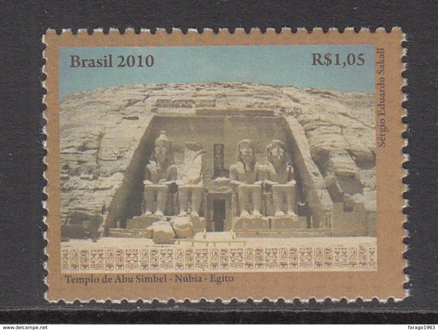 2010 Brazil Egyptology Ancient Ruins  Complete Set Of 1 MNH - Brazilië