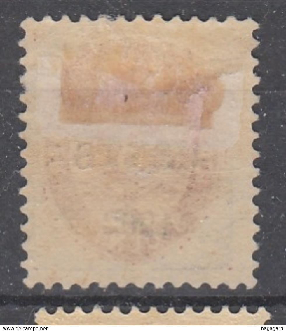 +D3275. Danish West Indies 1902. AFA 18By. MH(*) - Dänemark (Antillen)