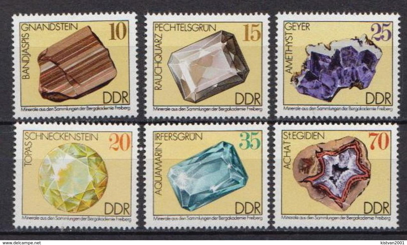 Germany DDR MNH Set - Minerals