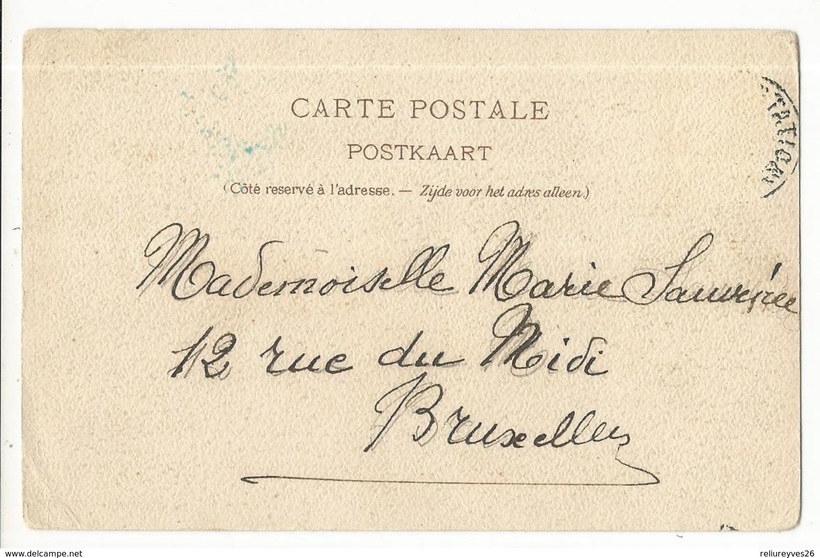 CPA, Précurseur ,Belgique ,N° 3-48,  Namur , Ancien Pont De Jambes , Litho J.C. Goffart , Ed. Dos Simple 1900 - Namur