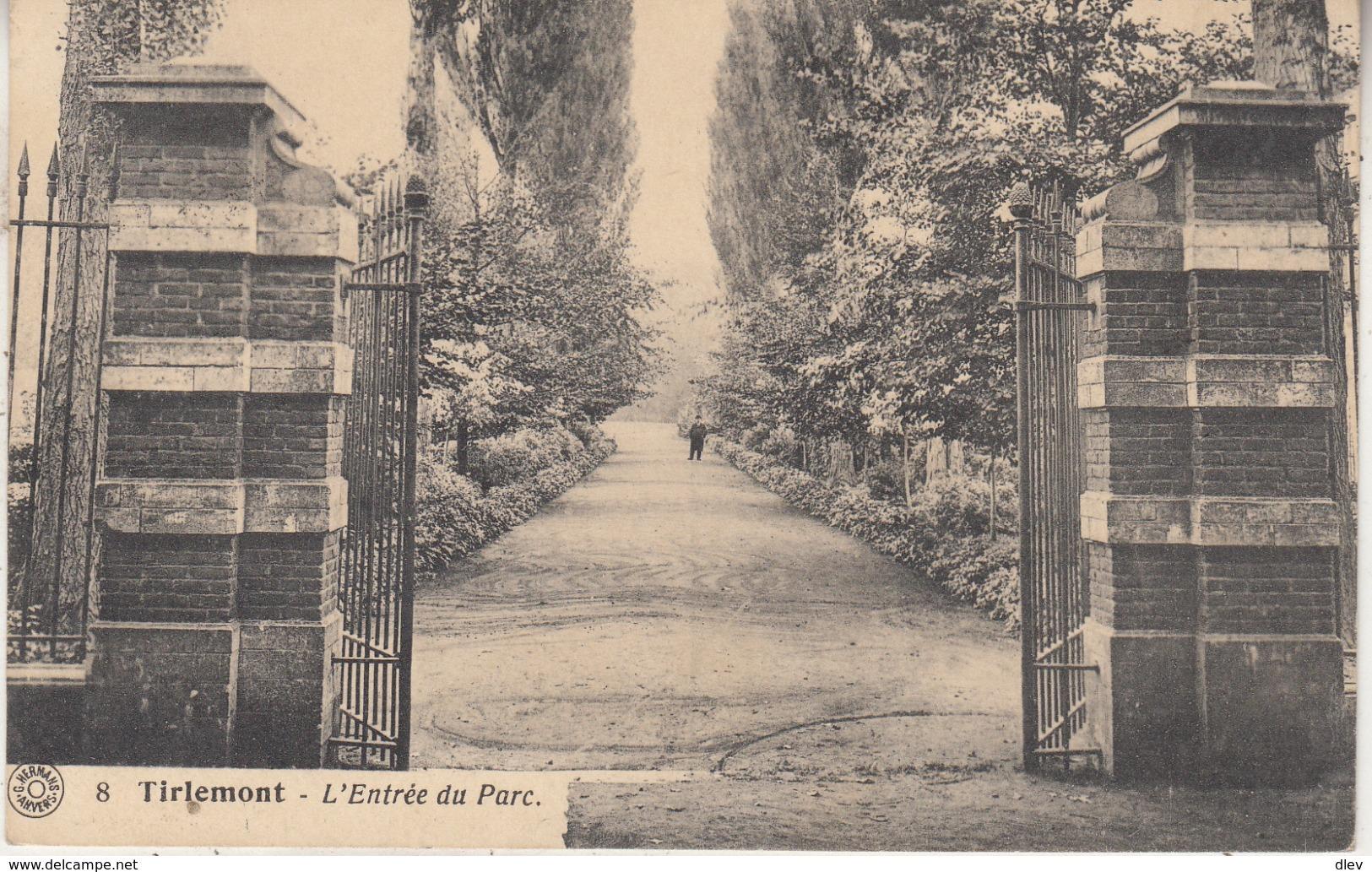 Tienen - Ingang Van Het Park - 1923 - Uitg. G. Hermans, Antwerpen Nr 8 - Tienen
