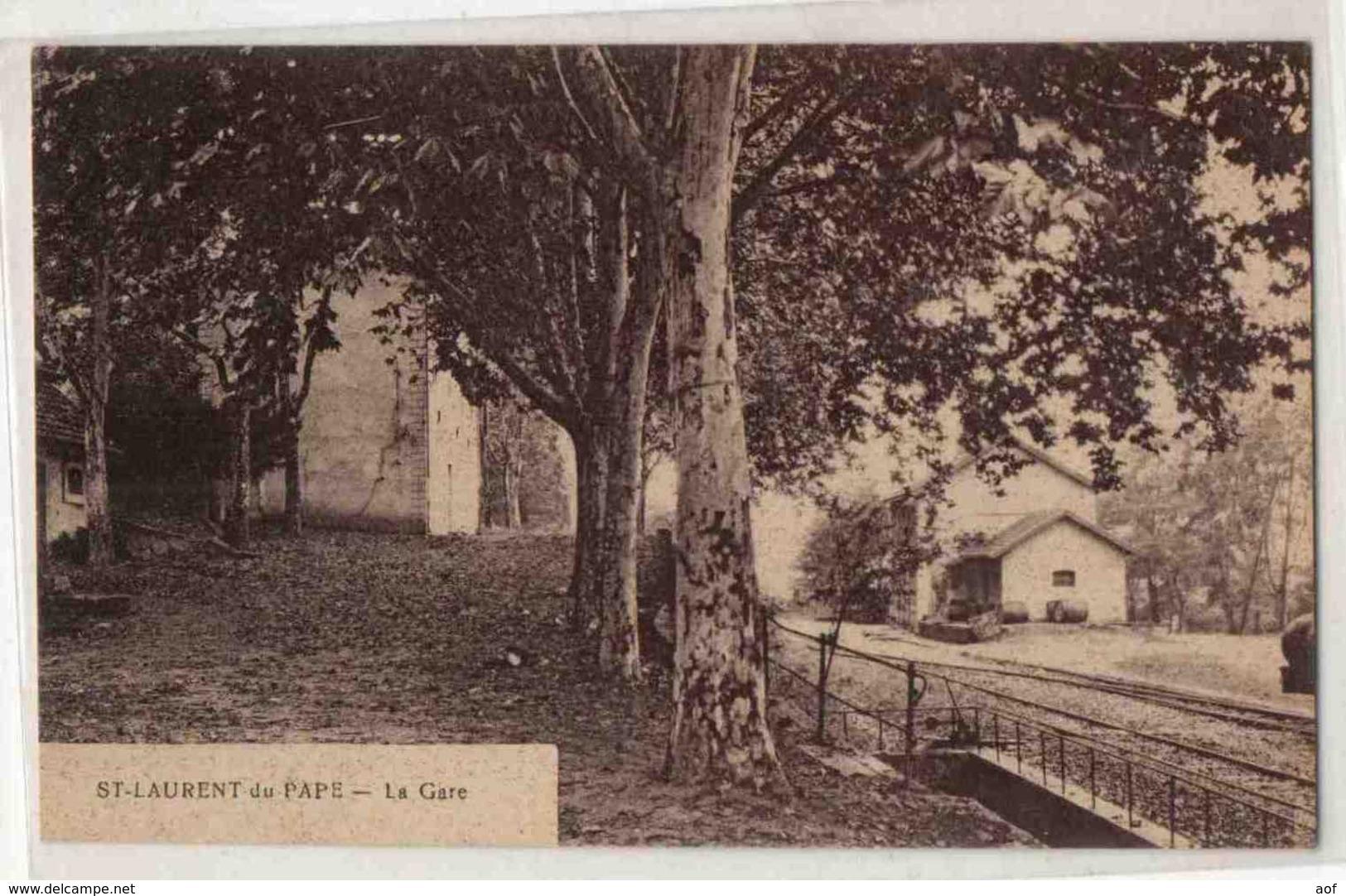 SAINT-LAURENT-du-PAPE Gare - France