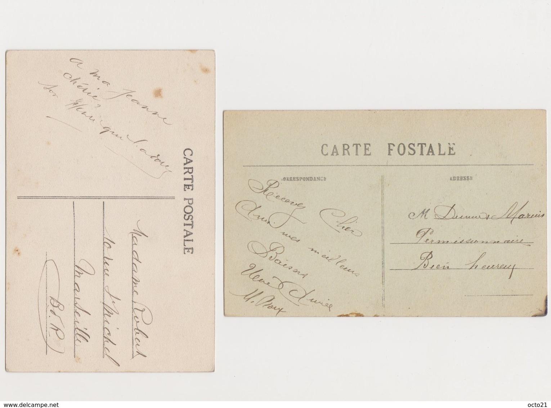 2 Cartes Fantaisie  /  Trousseau Des Mariés - Couples