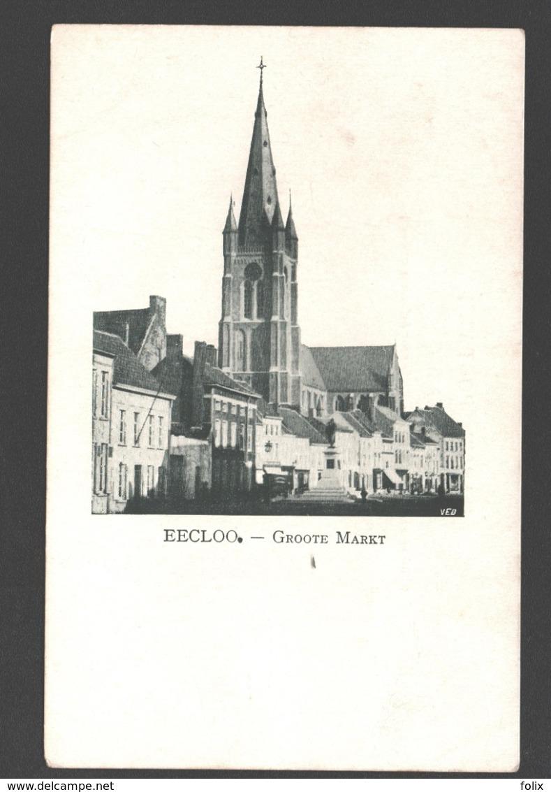 Eeklo / Eecloo - Groote Markt - Enkele Rug - Eeklo