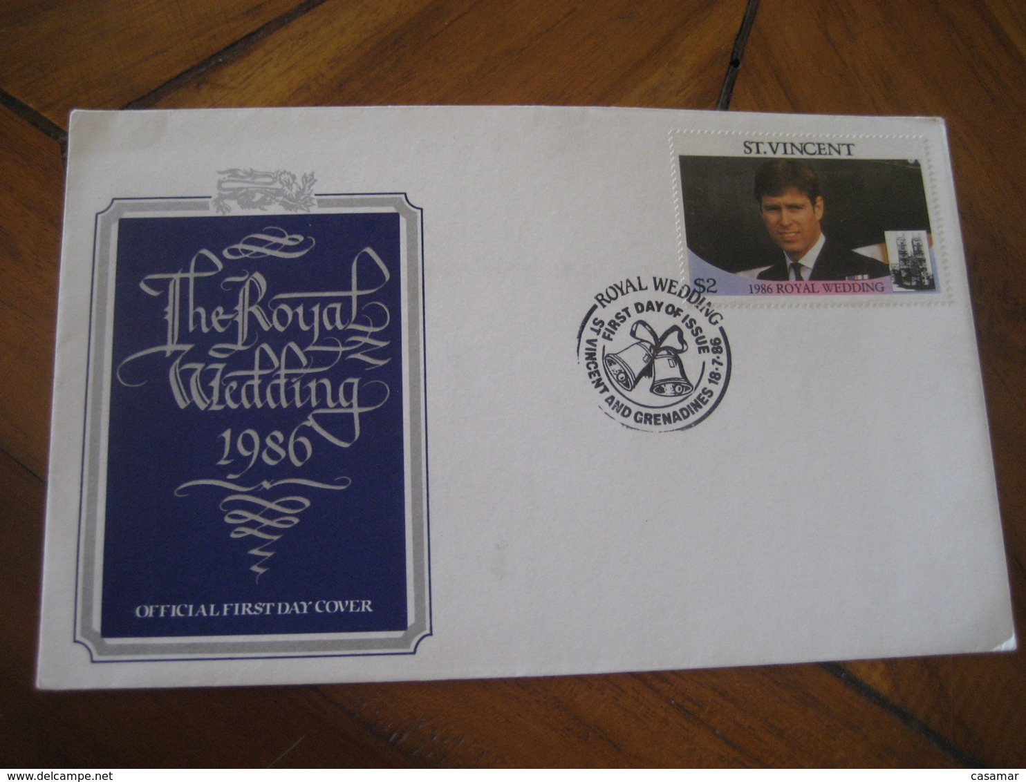 ST. VINCENT AND GRENADINES 1986 Royal Wedding Royalty FDC Cancel Cover British Colonies Area America - St.Vincent & Grenadines