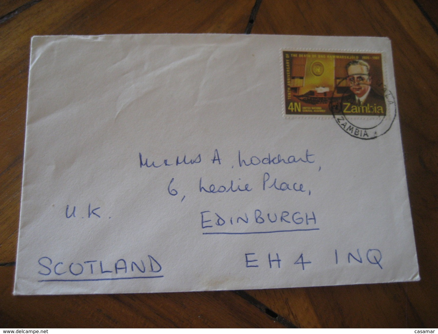NAMWALA Zambia 1971 To Edinburgh Scotland Stamp On Cancel Cover - Zambie (1965-...)