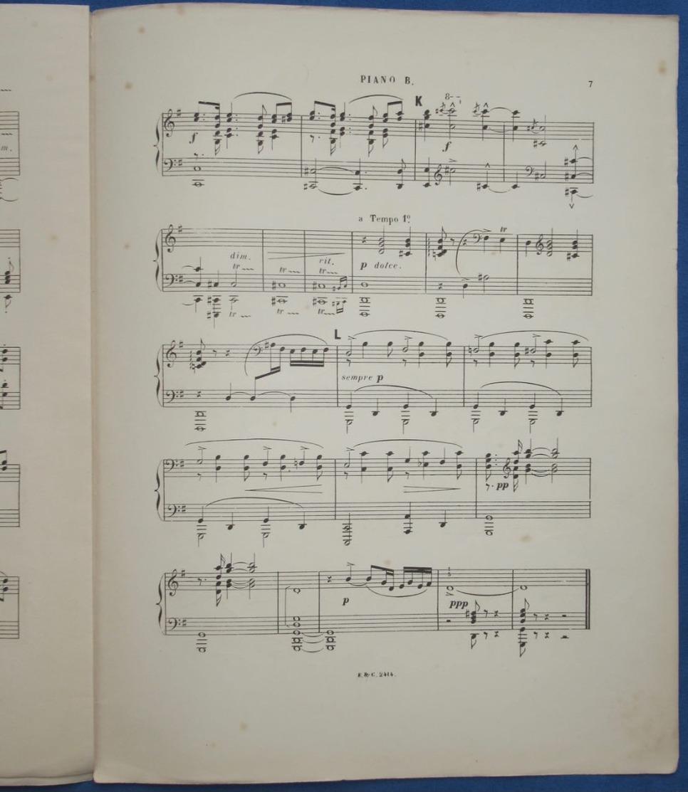 CAF CONC CLASSIQUE PIANO GF 4 MAINS CÉCILE CHAMINADE PARTITION XIX LE MATIN OPUS 79  N°1 PIÈCES RÉDUITES PAR AUTEUR 1895 - Musique & Instruments