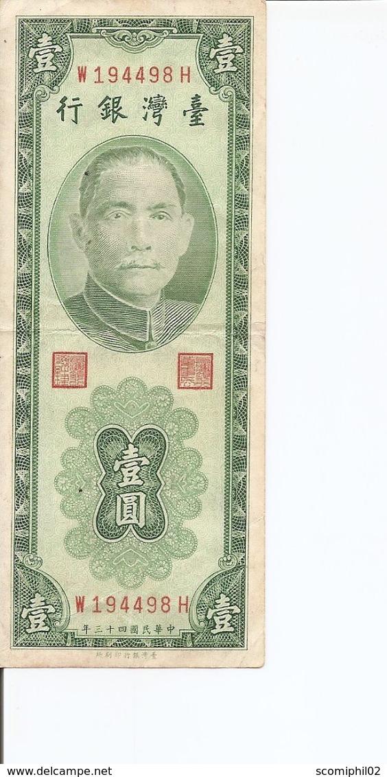 Taiwan -Formose ( Billet De 1 Yuan De 1954 à Voir) - Taiwan