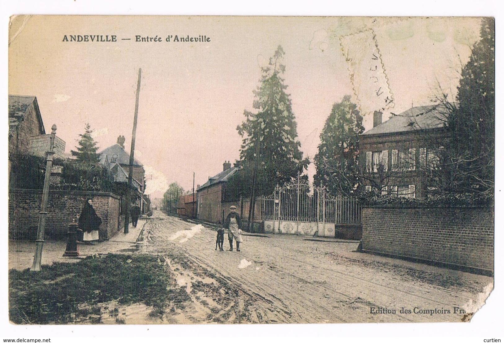 """ANDEVILLE  59  L ' Entrée """" Abimée """" - France"""